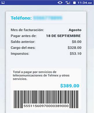 Número de teléfono de Telmex