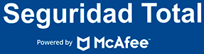 Seguridad total, powered by McAfee.